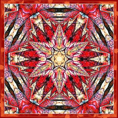 Ornamental Autumn Mandala Poster by Georgiana Romanovna