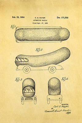 Oscar Mayer Wienermobile Patent Art 1954 Poster