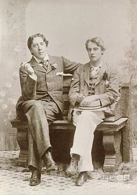 Oscar Wilde And Alfred Douglas, 1893 Poster by British Library