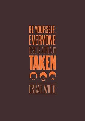 Oscar Wilde Quote Typographic Art Print Poster Poster