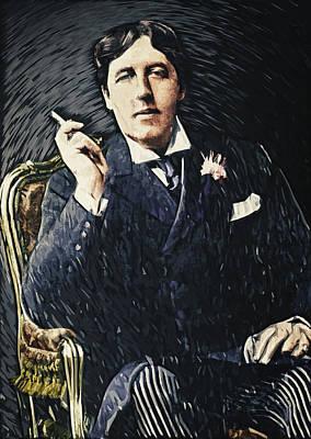 Oscar Wilde Poster by Taylan Apukovska