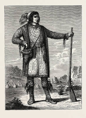 Osceola, Chief Of The Seminoles. From Catlins North Poster by American School