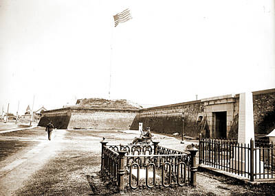 Osceolas Grave, Fort Moultrie, Charleston Poster by Litz Collection