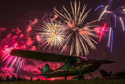 Oshkosh 2014 Fireworks Finale Poster by Greg Drawbaugh