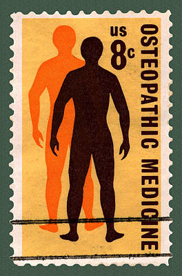 Osteopathic Medicine Stamp Poster by Phil Cardamone