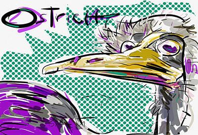 Ostrich Poster by Brett LaGue