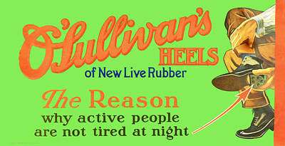 O'sullivan's Heels Of New Live Rubber Poster by Woodson Savage