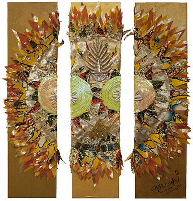 Poster featuring the tapestry - textile Osun Sun by Apanaki Temitayo M