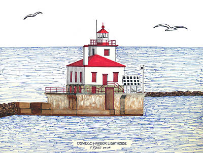 Oswego Harbor Lighthouse Poster