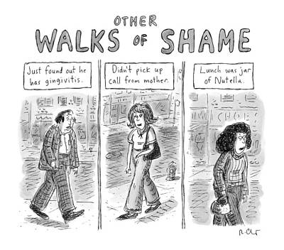 Other Walks Of Shame -- Just Found Poster by Roz Chast