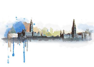 Ottawa Skyline 18b Poster by Mahnoor Shah