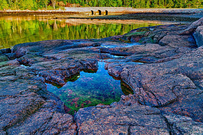 Otter Cove Bridge And Tide Pool Poster