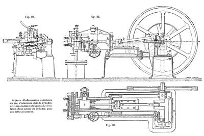 Otto Gas Engine Poster by Science Photo Library