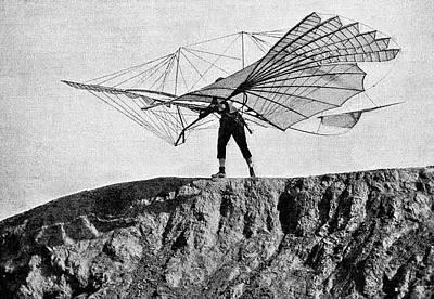 Otto Lilienthal And Glider Poster by Bildagentur-online/tschanz