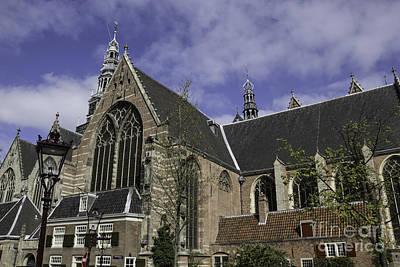 Oude Kerk Old Church Amsterdam Poster by Teresa Mucha