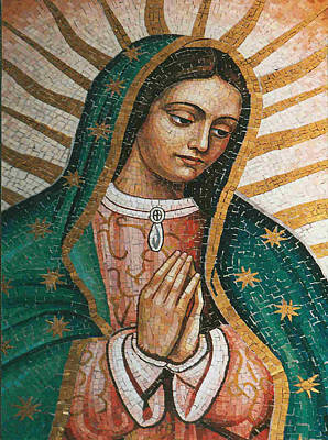 Poster featuring the painting Our Lady Of Guadalope by Pam Neilands
