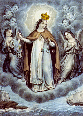 Our Lady Of Mercy Circa 1856  Poster