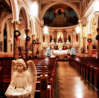 Poster featuring the photograph Our Lady Of Mount Carmel Church At Christmas by Aurelio Zucco