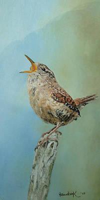 Our Little Wren Poster by Erna Goudbeek