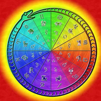 Ouroboros Alchemical Zodiac Poster