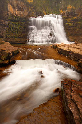 Poster featuring the photograph Ousel Falls by Aaron Whittemore
