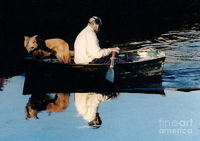 Poster featuring the photograph Out For A Boat Ride by Susan Crossman Buscho