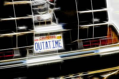 Outatime Fractal Poster by Ricky Barnard