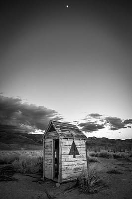 Outhouse And Moon Poster by Cat Connor