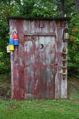 Outhouse Shed In A Garden, Marion Poster
