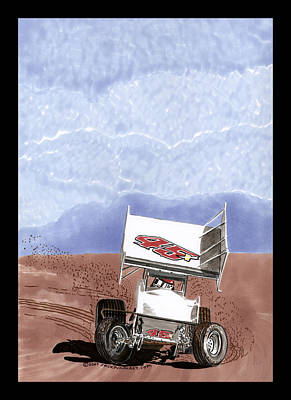 Outlaw Race Car Poster by Jack Pumphrey