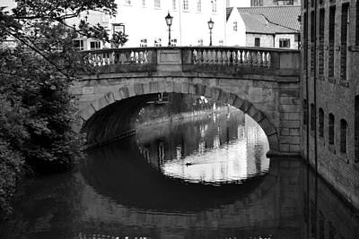 Poster featuring the photograph Oval Bridge Over The River Foss York by Scott Lyons