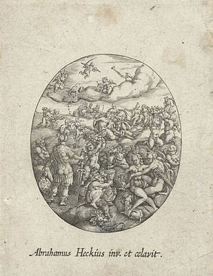 Oval With The Olympian Gods In The Clouds Poster by Artokoloro