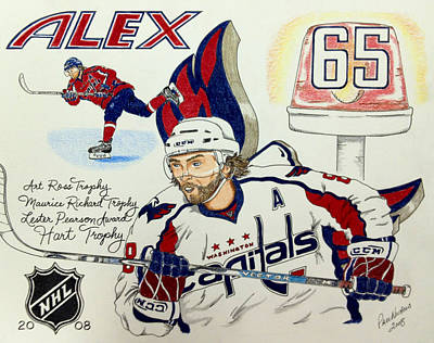 Ovechkin 2008 Poster by Paul Nichols