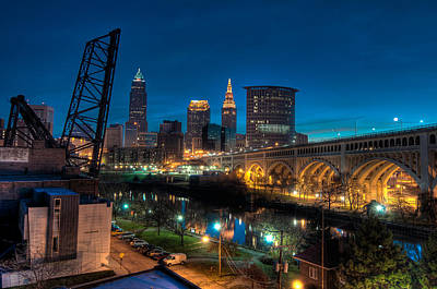 Over The Cuyahoga Before Sunrise Poster