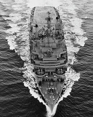 Overhead View Of Uss Nashville Lpd-13 Poster
