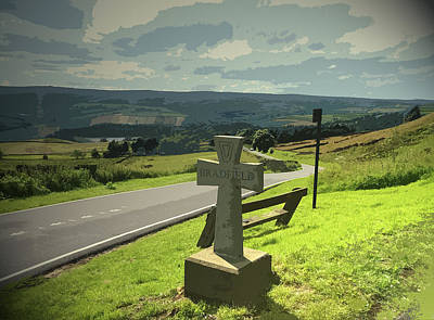 Overlooking High Bradfield From Kirk, A Steady Stream Poster by Litz Collection