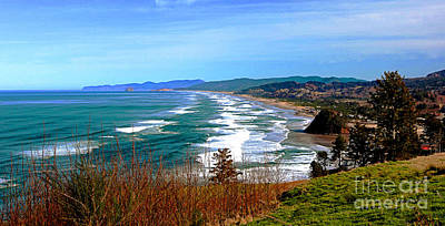Overlooking Proposal Rock Cape Lookout Haystack Rock And Cape Kiwanda Poster