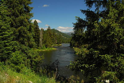 Overlooking The Lochsa River In Idaho Poster
