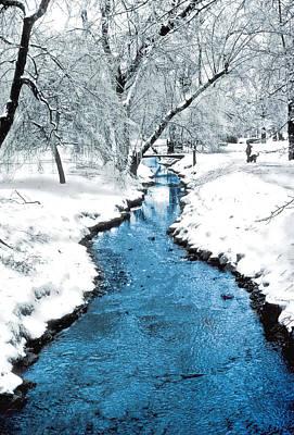 Overnight Snow In Edgemont Park Poster