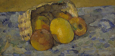 Overturned Basket Of Fruit, C.1877 Poster by Paul Cezanne