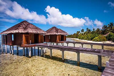 Overwater Spa Villas. Maldives Poster by Jenny Rainbow