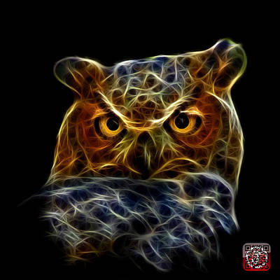 Poster featuring the digital art Owl 4436 - F M by James Ahn