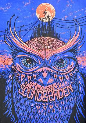 Owl At Night Poster