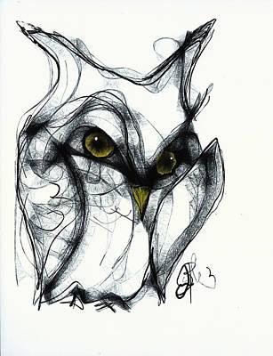 Owl Eyes  Poster by Jon Baldwin  Art