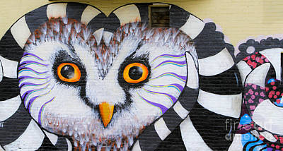 Poster featuring the photograph Owl Mural by Ricky L Jones