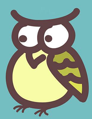 owl Poster by Nursery Art