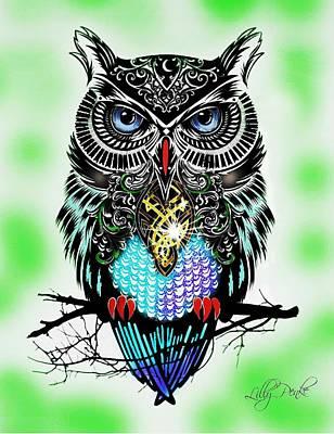 Owl Prosperity Poster by Lilly Penke