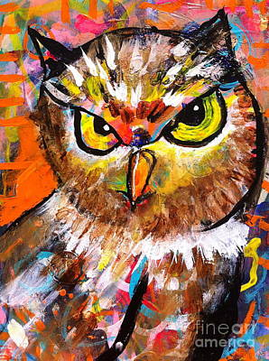 Owl With An Attitude Poster