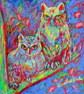 Owls Electric Poster