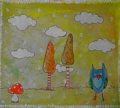 Owlville Poster by Melissa Osborne